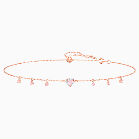 Swarovski Necklace ONE CHOKER Heart, Pink, Rose Gold -5464162