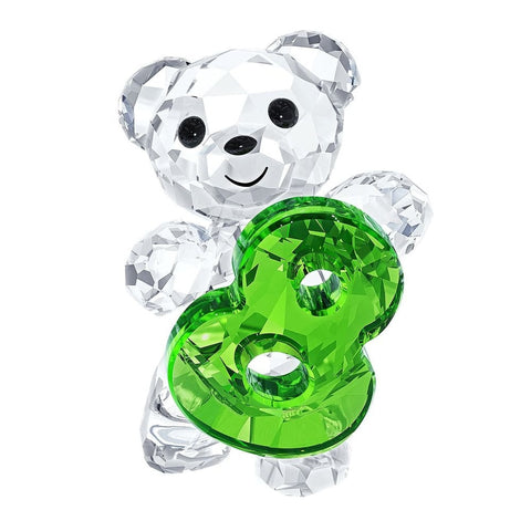 Swarovski Crystal Figurine KRIS BEAR NUMBER EIGHT Number 8 Birthday #5108730