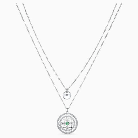 Swarovski Jewelry SYMBOLIC MANDALA NECKLACE, White, Rhodium -5541987