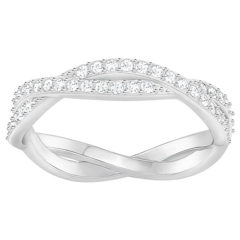 Swarovski Clear Crystal INFINITY RING, Rhodium