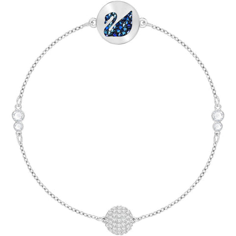 Swarovski Remix Collection SWAN STRAND, Blue, Rhodium -5375252