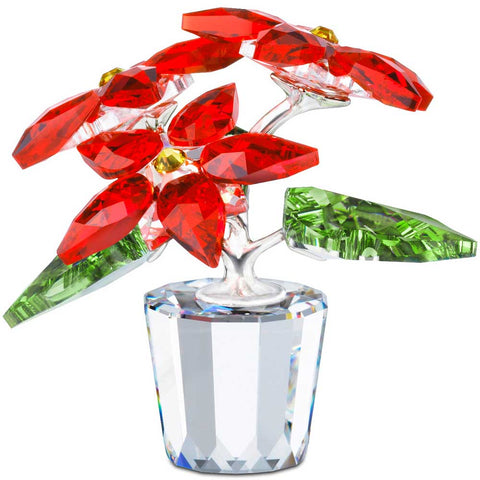Swarovski Crystal Christmas Poinsettia Red Flower #905209