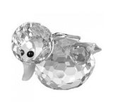Swarovski Crystal Figurine Mini DUCK Swimming, Clear, Small - 7665NR37