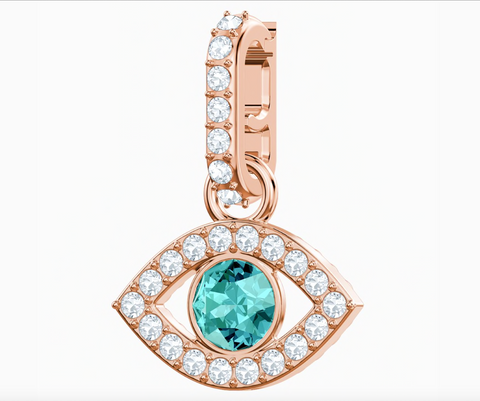 Swarovski REMIX COLLECTION EVIL EYE CHARM, Rose Gold -5434401