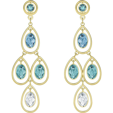 Swarovski Crystal Pierced Chandelier Earrings LAST SUMMER #5390672