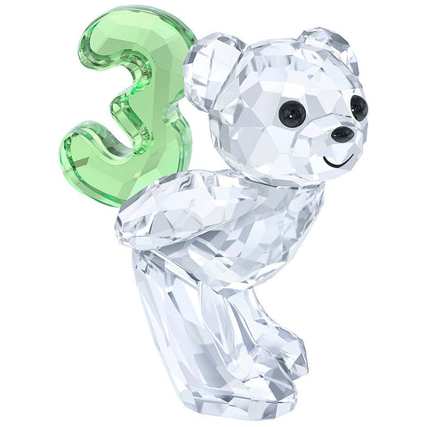 Swarovski Crystal Figurine KRIS BEAR NUMBER THREE Number 3 Birthday #5108725