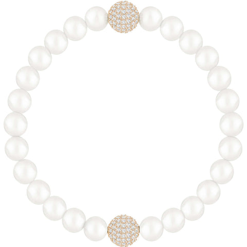 Swarovski REMIX PEARL STRAND, White, Medium, Rose Gold -5365746