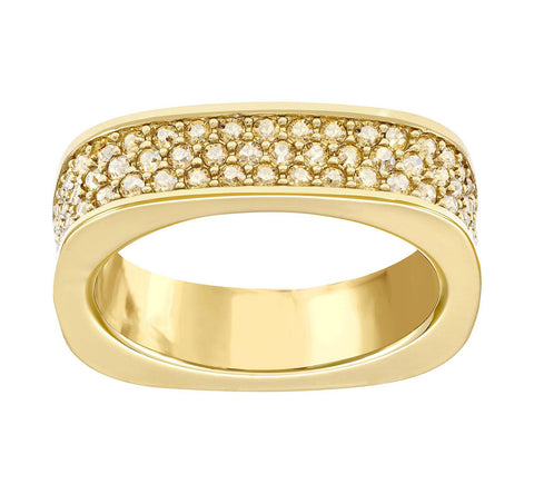 Swarovski Golden Shadow Crystal VIO RING Gold Plated