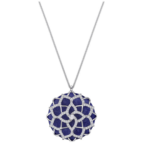 Swarovski Necklace LUCIUS Pendant FLOWER, Rhodium - 5379755