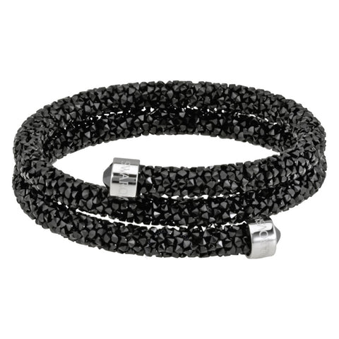 Swarovski CrystalDust Double Bangle Bracelet, Jet Black, Medium-5250023