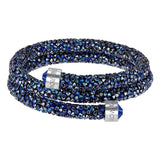 Swarovski CrystalDust Double Bangle Bracelet, Blue, Medium-5237752