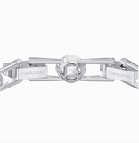 Swarovski ANGELIC SQUARE BRACELET, Medium, Blue, Rhodium -5289514
