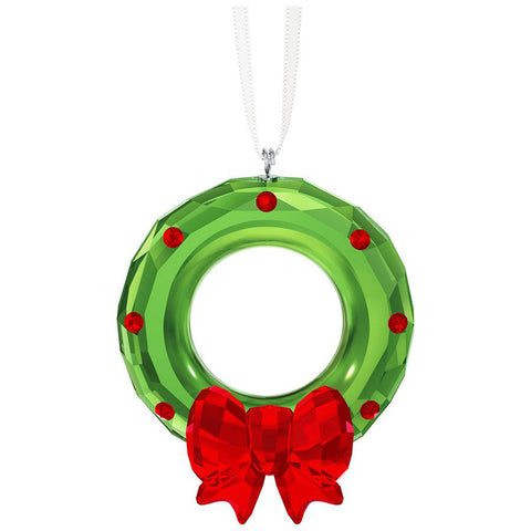 Swarovski Christmas Ornament WREATH With Red Bow - 5223687