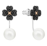Swarovski LATISHA PIERCED EARRING JACKETS, Black -5389161