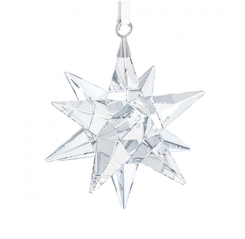 Swarovski Clear Crystal 3D Christmas Ornament STAR Ornament #5064257