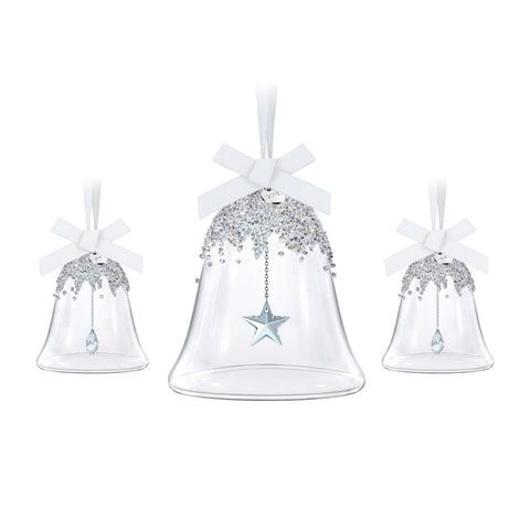 Swarovski Crystal Christmas Ornaments Set of 3 CHRISTMAS BELLS 2016 #5223283