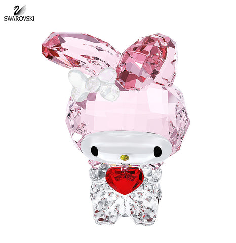 Swarovski Color Crystal Figurine MY MELODY RED HEART Bunny #5004742