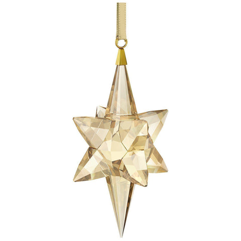 Swarovski Golden Shadow Christmas Ornament LARGE STAR Ornament Gold -5301220