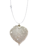 Real Leaf PENDANT ASPEN Dipped in Platinum - Zhannel  - 3