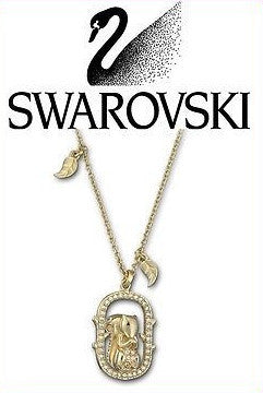 Swarovski Midori Squirrel Pendant Necklace Gold Tone New #1065375 - Zhannel