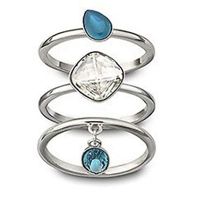 Swarovski NANA Crystal Rings Set of 3 Rings - Zhannel  - 1