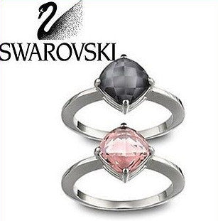Swarovski Pair of Rings Lea Vintage Rose Ring - Zhannel  - 1