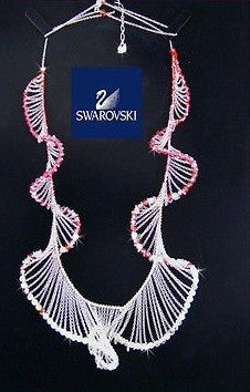 Swarovski Pink & Clear Crystal LEVITY Long Necklace 1040868 - Zhannel  - 1