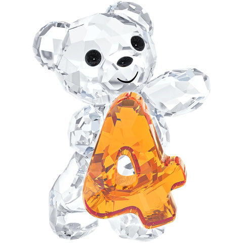 Swarovski Crystal Figurine KRIS BEAR NUMBER FOUR Number 4 Birthday #5108726
