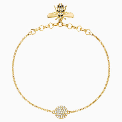 Swarovski Bracelet REMIX COLLECTION BEE STRAND, Black, Gold Tone -5380077