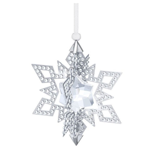 Swarovski Crystal CHRISTMAS ORNAMENT STAR Silver Tone #5135808