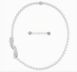 Swarovski NICE PEARL SET Necklace, Bracelet & Studs, White, Rhodium -5512380