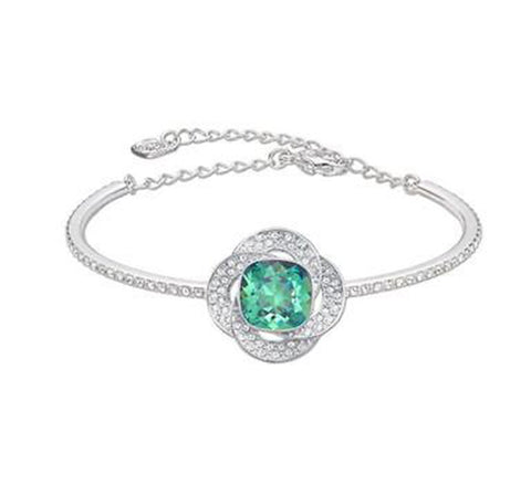 Swarovski Green & Clear Crystal AGILITY Bangle Medium #5037963