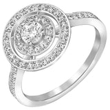 Swarovski Clear Crystal Engagement Ring ATTRACT LIGHT DUAL Rhodium