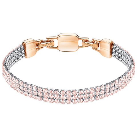 Swarovski Rose Crystal Mesh Bracelet CLIM Medium, Rose Gold #5278710