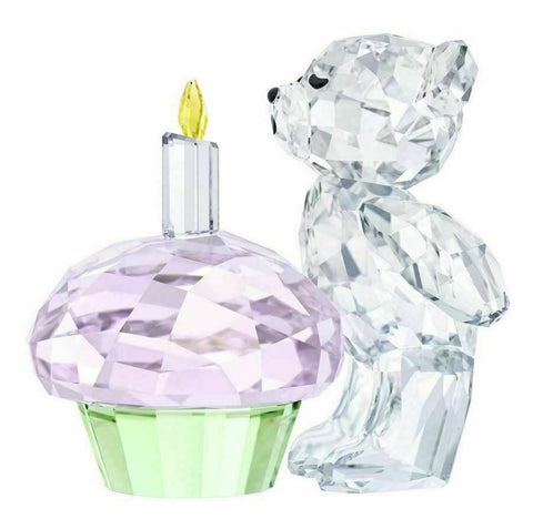 Swarovski Crystal Figurine Birthday KRIS BEAR - TIME TO CELEBRATE -5301570