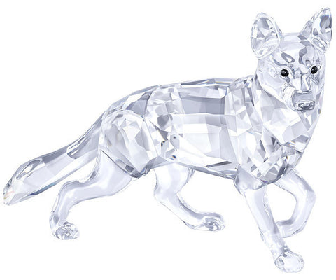 Swarovski Crystal Animal DOG Figurine GERMAN SHEPHERD, CLEAR - 5135912
