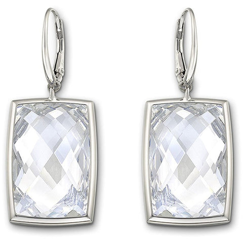 Swarovski Clear Crystal NIRVANA Pierced Earrings Rhodium #1144364