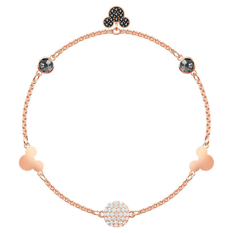 Swarovski REMIX COLLECTION MICKEY STRAND, Rose Gold, M -5462360