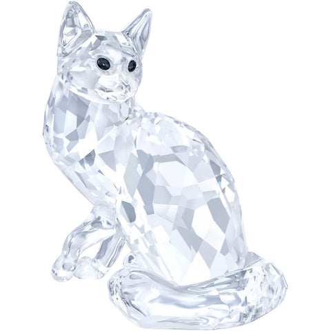 Swarovski Crystal Animal Figurine MAINE COON CAT, Clear- 5135919