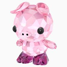 Swarovski Crystal Figurine ZODIAC - DETERMINED PIG -5302557