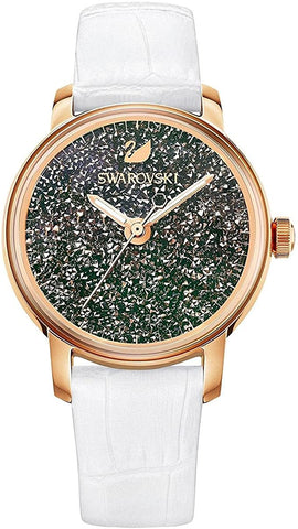 Swarovski WATCH CRYSTALLINE, Rose Gold, White Leather -5344635