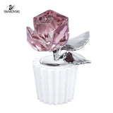Swarovski Color Crystal Flower Figurine ROSE #5268825