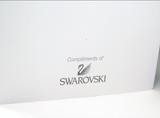 6 Authentic Swarovski Holiday Cards with Red Crystals & 6 envelopes New 1271255