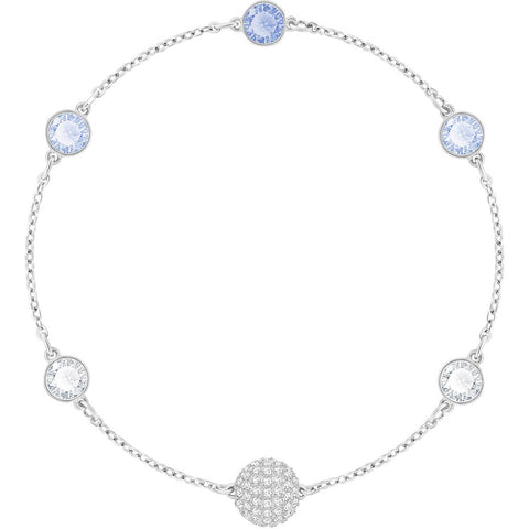 Swarovski Remix Collection TIMELESS STRAND, Blue, Rhodium -5354791