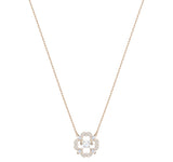 Swarovski Jewelry SPARKLING DANCING FLOWER Necklace, Rose Gold - 5408437