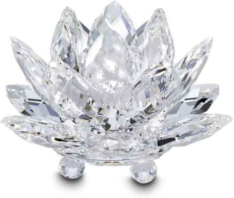 Swarovski Crystal WATERLILY CANDLEHOLDER, Small, Clear - 5084103