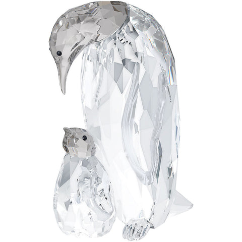 Swarovski Crystal Figurine PENGUIN MOTHER WITH BABY - 5043728