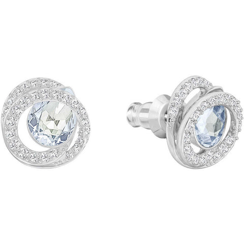 Swarovski Jewelry GENERATION PIERCED EARRINGS, Rhodium-5289026