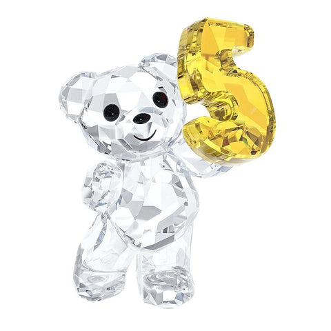 Swarovski Crystal Figurine KRIS BEAR NUMBER FIVE Number 5 Birthday #5108727