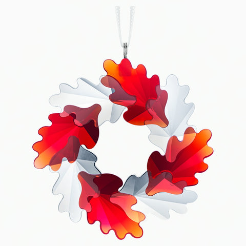 Swarovski Crystal Christmas Ornament WREATH ORNAMENT, LEAVES -5464866